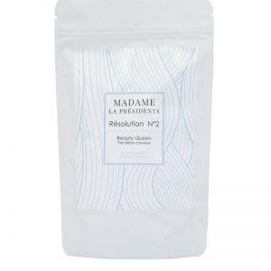 BEAUTY QUEEN - Madame La Présidente, Complément capillaire pour les cheveux, complément capillaire, Résolution N°1, Résolution N°2, thé détox, thé détox naturel, complément alimentaire cheveux, made in France, produit made in France