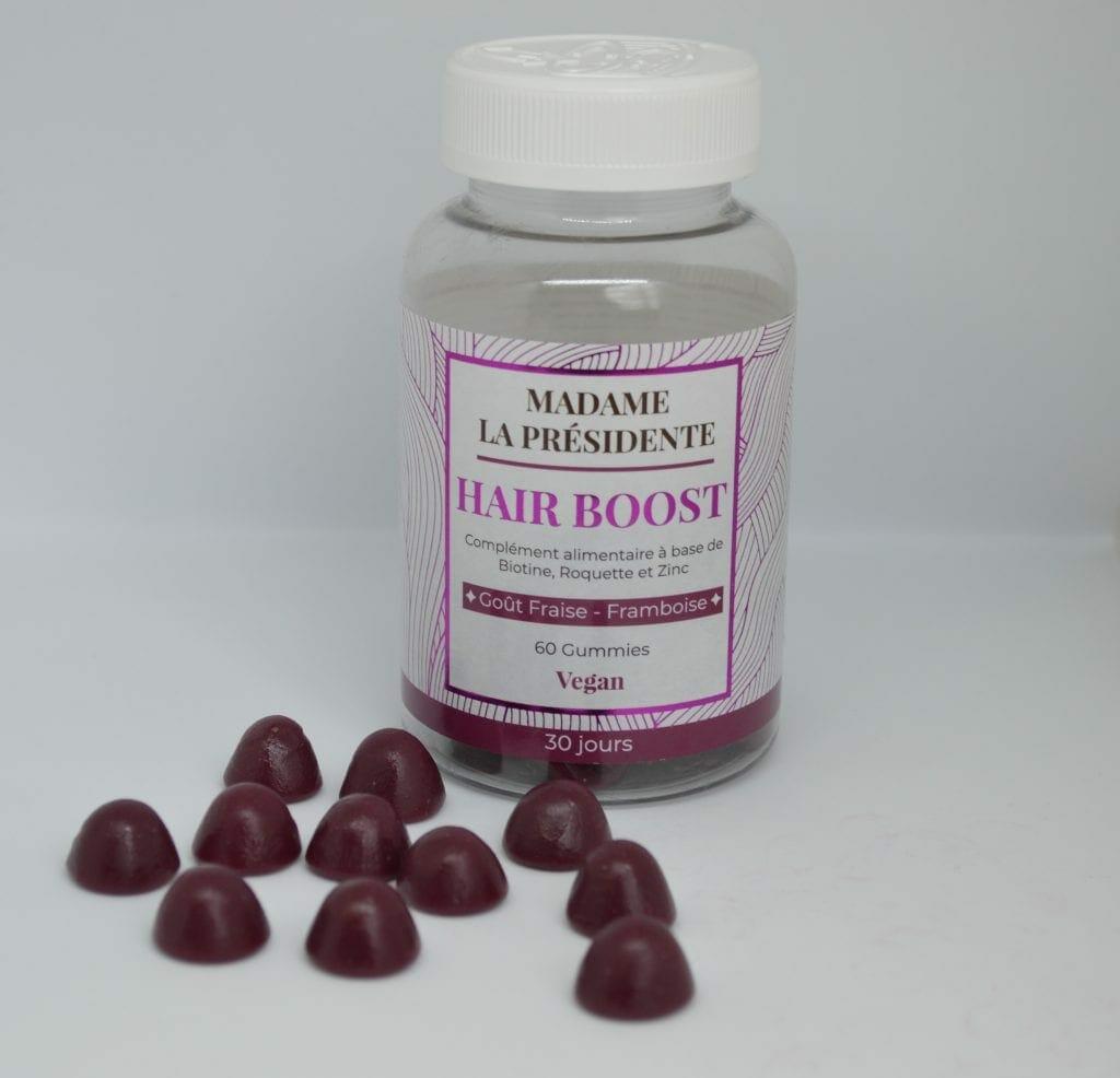 Hair Boost gummies pour la pousse des cheveux