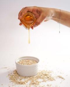 Masque avoine thé miel