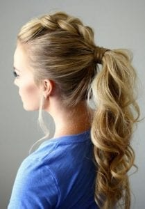 easy party hairstyle idea