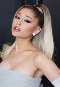 Ariana grande hairstyle high ponytail idea for parties